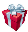 Gift red box Stock Images