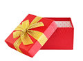Gift red box Royalty Free Stock Images