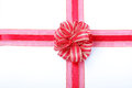 Gift red ribbon and bow Stock Image