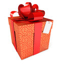 Gift with a red ribbon and a bow Stock Photo