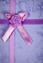 Gift ribbon on box Royalty Free Stock Photography