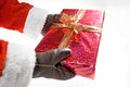 A gift from santa claus Royalty Free Stock Photography