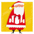 Gift from santa illustration of claus holding a Royalty Free Stock Photography