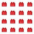Gift seamless pattern