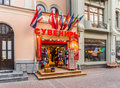 A gift shop on the Old Arbat. Royalty Free Stock Photo