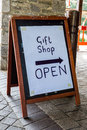 Gift shop a sign on an board Royalty Free Stock Images