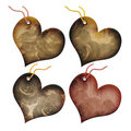 Gift tags in the form of heart. Royalty Free Stock Photo