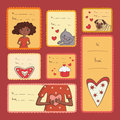 Gift tags with love Stock Photography