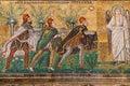 Gift of three Magi in Sant Apollinare Nuovo Royalty Free Stock Photo