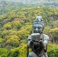 Gift to Big Buddha in Lantau, Hong Kong Royalty Free Stock Photo