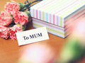 Gift to mum for mother day Royalty Free Stock Images