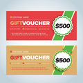 Gift Voucher, Gift certificate, Coupon template. Red and beige color versions. Vector illustration. Royalty Free Stock Photo