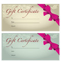 Gift voucher template for certificate Stock Photography