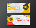 Gift Voucher template, coupon design,ticket,discount voucher tem Royalty Free Stock Photo