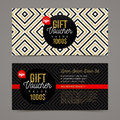 Gift voucher template Royalty Free Stock Photo