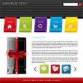 Gift webshop design Royalty Free Stock Photos