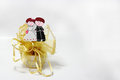 Gift for wedding souvenir sculpture dolls bride and groom Royalty Free Stock Photography