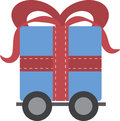 Gift on Wheels Royalty Free Stock Photography