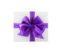 Gift the white box with bow Royalty Free Stock Image