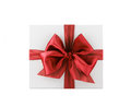 Gift the white box with bow Stock Photos