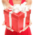 Gift woman Royalty Free Stock Photo