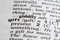 Gift Word Royalty Free Stock Photo