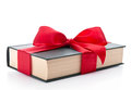 Gift wrapped book with a ribbon Royalty Free Stock Photos