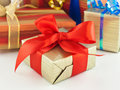 Gift wrapped present Royalty Free Stock Images