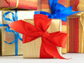 Gift wrapped present Royalty Free Stock Image
