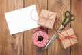 Gift wrapping Royalty Free Stock Photo