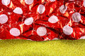 Gift wrapping paper macro photograph of used Royalty Free Stock Images