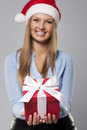 Gift for you special christmas from our company Stock Photography