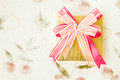 Giftbox on mulberry paper Royalty Free Stock Photography
