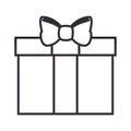 Giftbox present isolated icon