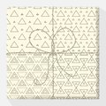 Set of repeating and seamless patterns on a gift box. Mock up vector variation. Modern stylish geometric texture of monochrome sha