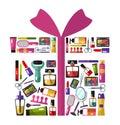 Giftbox shape concept Royalty Free Stock Photo