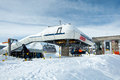 Gifthittli ski station, Switzerland Royalty Free Stock Image