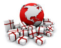 Gifts around the world Royalty Free Stock Photography