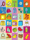 Gifts as illustrative icons Royalty Free Stock Photo