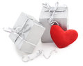 Gifts beloved on a white background Royalty Free Stock Photos