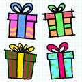 Gifts box cartoon. Stock Photography