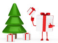 Gifts box christmas tree Stock Image