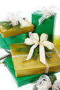 Gifts boxes Royalty Free Stock Images