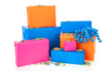 Gifts in many colors Stock Photography
