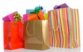 Gifts in paper shopping bags Royalty Free Stock Photo