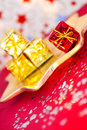 Gifts and presents, Christmas and party decoration Stock Image