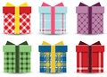 Gifts set of colorful you can use them in your designs Royalty Free Stock Photos