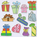 Gifts stickers Stock Photography