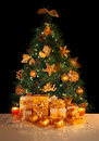 Gifts under Christmas tree Royalty Free Stock Photo