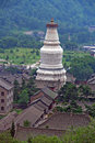 The gigantic white stupa of tayuan temple in wutai shan china photo taihuai Stock Images